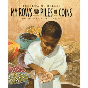 My rows and piles of coins - black children's books
